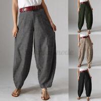Mode Femme Pantalon Casual Loisir Jambes larges Décontracté lâche Quotidien Plus