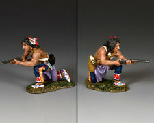 KING & COUNTRY THE REAL WEST TRW131 KNEELING PLAINS INDIAN WITH CARBINE MIB