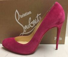 Christian Louboutin Breche 100 Rossa Pink Suede Heels Pumps Shoes 41