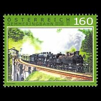 Austria 2015 - 160th Anniv of the Semmering Railway Trains - Sc 2582 MNH
