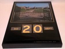 Werbung Champagne POMMERY Champagner schwarze Glasscheibe Kalender 1974 SEHR RAR