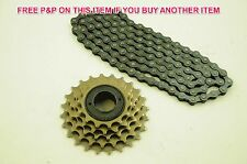 5 SPEED BIKE 14/28 NON INDEX FREEWHEEL COG ( CASSETTE ) PLUS 3/32 CHAIN SET