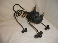 Vintage Spring Kitty Iron Cat Doorstop or Yard Decoration - Very Cool!
