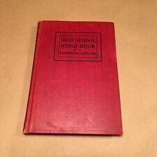 "1908 1911 ""High School Word Book"" by Richard Sandwick & Anna Bacon"