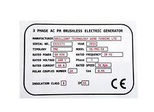 TARGHETTE Industriali alluminio Stampate con  Logo e testo