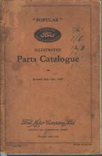 FORD MODEL Y POPULAR SALOON ORIG. 1937 FACTORY ILLUSTRATED SPARE PARTS CATALOGUE