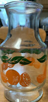 Anchor Hocking Orange Juice Pitcher Carafe Decanter Vintage USA 1.5 Quart EUC