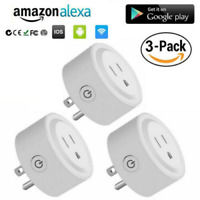 3 Pack WiFi Smart Plug Socket Outlet Switch APP Remote Control Alexa/Google Home