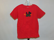 BEAUTIFUL PUPPY ON LEASH RED TODDLER YOUTH SHORT SLEEVE SHIRT   SIZE 4