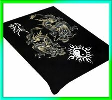 Dragon And Yin Yang Soft Plush Mink Blanket Full/Queen Size