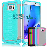 Armor Shockproof Rugged Rubber Hard Case Cover for Samsung Galaxy Note 5 V N920