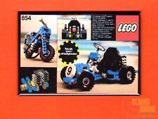 "Lego Technic Go Cart 2x3"" fridge/locker magnet box art 854"