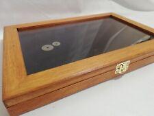 Cofanetto vetrinetta per collezionismo espositore vetrina display legno
