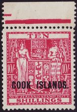 COOK ISLANDS, 10s PALE CARMINE LAKE, SG133, UNMOUNTED MINT MNH, 1948