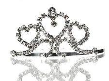 Wedding Crystal Tiara Flower Girl Pageant Homecoming Prom Comb 4065