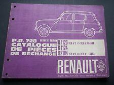 Renault R4  Ersatzteilkatalog R 1123 R 1124 R2104  aus 1964 spare parts