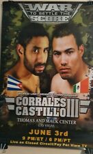 Very Rear Boxing Poster / Corrales vs Castillo III (Fight that NEVER occured)