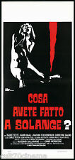 COSA AVETE FATTO A SOLANGE? (1° TIPO) LOCANDINA CINEMA FILM GIALLO 1972 PLAYBILL