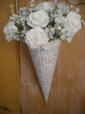 12x CHURCH LOVE LETTER PEW ENDS, WEDDING  HANGING DECORATION, LACE & BOW,