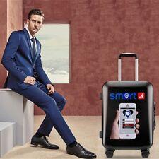Smart Intelligent Luggage Suitcase TSA Hard Case Lightweight GPS USB Charging Bl