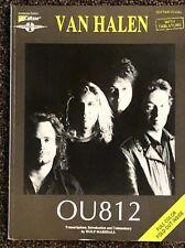 """VAN HALEN """"OU812"""" Guitar Tab Sheet Music Songbook 1988  NICE"""