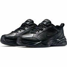 Nike AIR MONARCH IV Mens Black 001 Walking Shoes WIDE & Medium WIDTH 4E EEEE