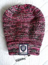 SUPERDRY Pink Twist Cuff BEANIE Toque HAT UNISEX Mens Womens TAGS Brand New