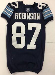 Toronto Argos CFL Game Used Football Jersey #87 Alexander Robinson Reebok Blue