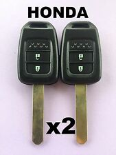 2 x HONDA 2 Button Replacement Remote Key Shell S2000 CIVIC JAZZ ACCORD ODYSSEY