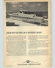 1966 PAPER AD Huckins Fairform Flyer Motor Boat Yacht 58' Linwood Revel Craft