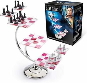 Star Trek Three Dimensional Chess Set Noble Collection Tridimensional chess set