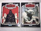 Star Wars ESB 1982 Coloring Books, Kenner, Unused, Yoda, Darth Vader