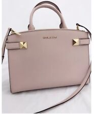Authentic Michael Kors Pink Karla Medium EW Blossom Satchel Handbag Bag