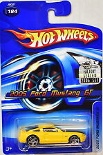 HOT WHEELS 2006 2005 FORD MUSTANG GT #184 YELLOW FACTORY SEALED