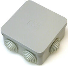 5 X QUADRATO Alloggiamento SCATOLA DERIVA GOMMINI connessione IP44 80X80X40MM