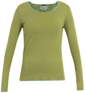 Jalfe Ringel-Longsleeve limegrün-geringelt, 100% Baumwolle, Größe XS, S, M, L