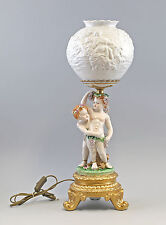 Porcelaine Lithophanie Lampe Bacchus somptueux Historicisme neuf 9987234