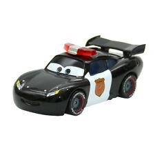 Mattel Disney Pixar Cars Black Police Lightning McQueen Sheriff 1:55 Diecast New