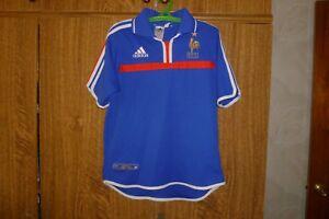 France Vintage Football Adidas Home 2000/2002 Shirt Euro 2000 Champions Size YL