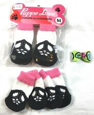 New listing Puppe Love dog socks, size Small and Medium, and hair bow
