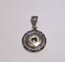 Antique Silver Button Snaps Necklace Pendant - Fits 18-20mm Ginger Brands #1