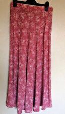 "Laura Ashley Pink Floral Calf Length Skirt Size 12 Waist 26"" Spring Summer"