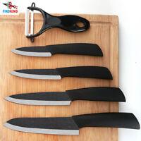 FINDKING Set couteaux de cuisine en céramique 3′ 4′ 5′ 6′ pouces + Éplucheur