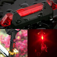 5 LED USB Rechargeable Bike Tail Light Bicycle Cycling Rear Lamp Safety Warning