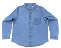 Levi's Women's Cotton Denim Style Shirt In Blue Size M