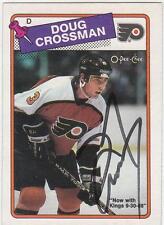 DOUG CROSSMAN Autographed Signed 1988-89 OPC card Philadelphia Flyers COA