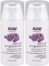 Natural Progesterone Liposomal Skin Cream w/ LAVENDER - 3oz x 2 Pack by NOW