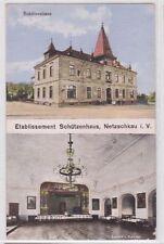 88731 Mehrbild AK Etablissement Schützenhaus Netzschkau i.V., Otto Köppel 1915