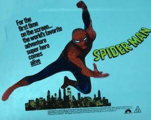The Amazing Spider-Man Movie 1977 Australian Glass Movie Preview Slide RARE