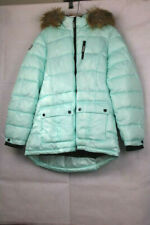 Justice Girls' Green Cozy Puffer Coat - Quilted, Insulated, Water Resistant